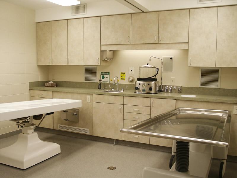 Johnson Danielson Funeral Home: embalming room design