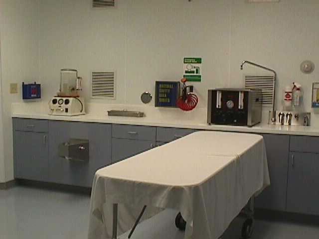 Skinner funeral home Embalming room design
