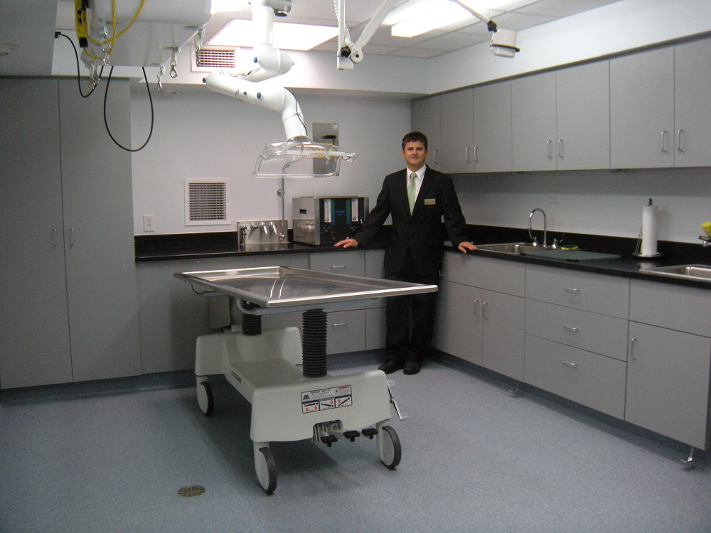 Preparm localized exhaust ventilation Embalming room design